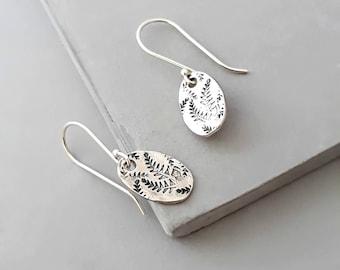 Silver Minimal Earrings - Minimal Earrings - Small Silver Dangle Earrings - Jewelry Gift for Women - Gift for Her
