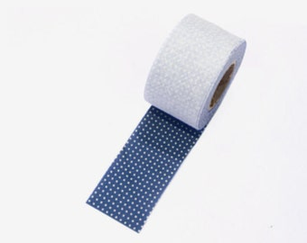 4 cm Dot Series Cotton Bias Tape in Indi-Blue - 10 yards By the Roll 95670