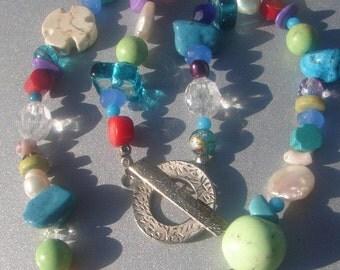 Authenic Mulit-Gemstone Necklace 181.