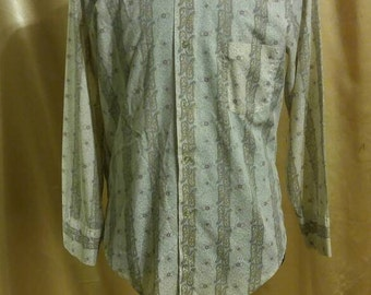 Vintage JC Penney Towncraft Mens Button Down Shirt