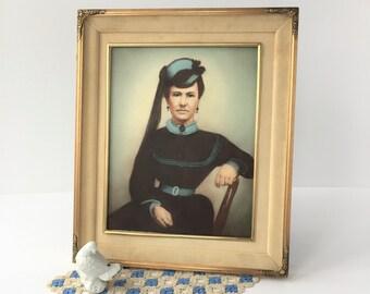 Vintage velvet picture frame – Etsy
