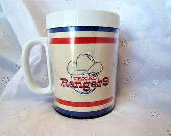 Texas Ranger's 1975 Bud Man Plastic Insulated Coffee Mug