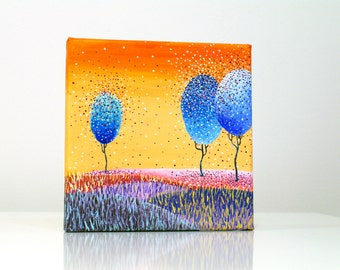 Paintings on canvas Wall art canvas art Acrylic painting Nature painting Acrylic on canvas painting Art Original artwork Fantasy painting