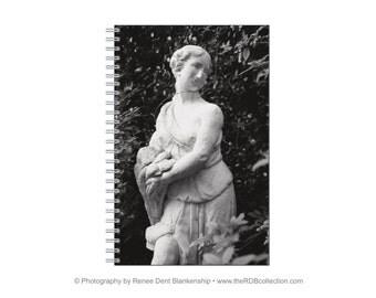 Girl Statue Spiral Journal
