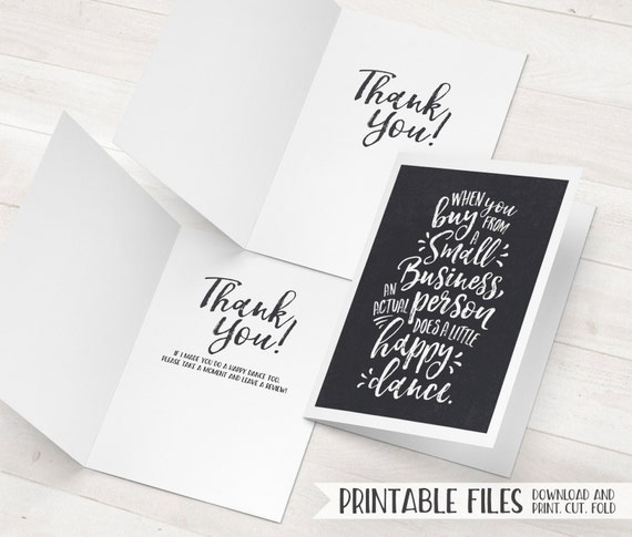 Business Thank You Card Small Business Cards Printable Thank – Business Thank You Notes