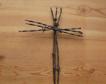 Rustic Barbed Wire Cross ~ Barbed Wire Cross ~ Western Wall Decor ~ Rustic Cross ~ Barbedwire Cross ~ Wedding Cross