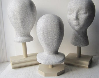 Last Chance Sale! ONE Dictionary Mannequin Head Hat Display w/Stand - Unisex Featureless / With Features / Child Featureless READY to SHIP