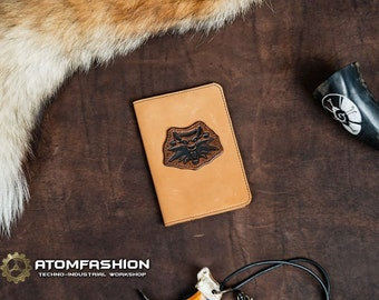 The Witcher leather passport cover