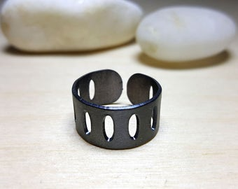 Wide Band Ring, Wide Rings Sterling Silver, Cuff Ring, Cuff Ring Sterling Silver, Wrap Rings for Men, Masculine Rings, Gift for her