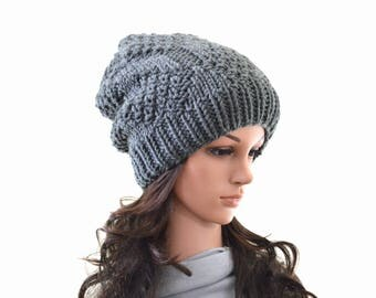 Knit Slouchy Men Woman Hat Beanie Toque | The Portland