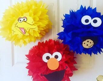 Sesame Street Inspired Character Pom Poms