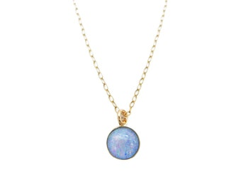 Genuine Opal Necklace, Opal Pendant, Gift for Her, Opal Jewelry