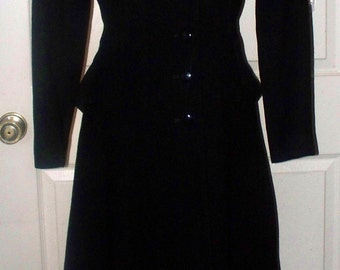 1940s Pacific Wool Coat - Juniors - Peplum Accent - Size Unmarked