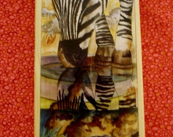 Watering Hole / Wood Mounted Rubber Stamp /Retired Stamp /Stamps Happen / 6 Inches Tall