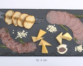 "Extra Large Slate Cheese Board - 24"" x 12"" comes with one soapstone chalk"