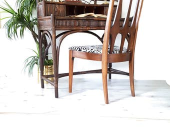 Bamboo Desk ~ Vintage Rattan Bamboo Writing Desk