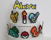 Pokemon Cake Toppers - Pokemon Cupcake Toppers - Pokemon Birthday Cake Toppers - Pikachu Cake Topper - Pokeball Cake Topper