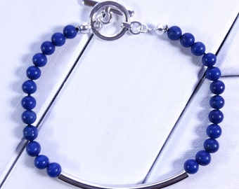 Lapis Blue Howlite Bracelet