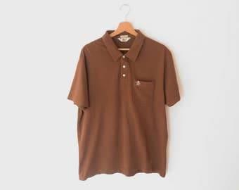 Penguin by Munsingwear Cotton Brown Polo Shirt , sz. XL