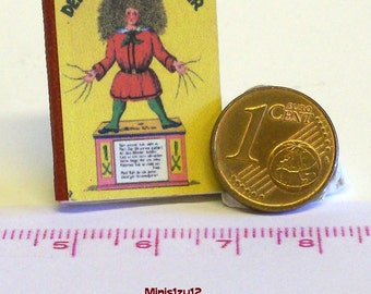 "1003# German Childrens Book ""Der Struwwelpeter"" - Doll house miniature in scale 1/12"