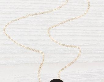 Black Onyx Necklace • Onyx necklace • Black gemstone necklace • Black necklace • Gold black necklace • Bridesmaid necklace| 0262NM