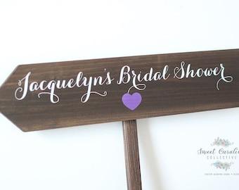 Wooden Bridal Shower Sign - Bridal Shower Decor - Shower Welcome Decor - Wooden Wedding Signs - Wedding Signs - WS-247