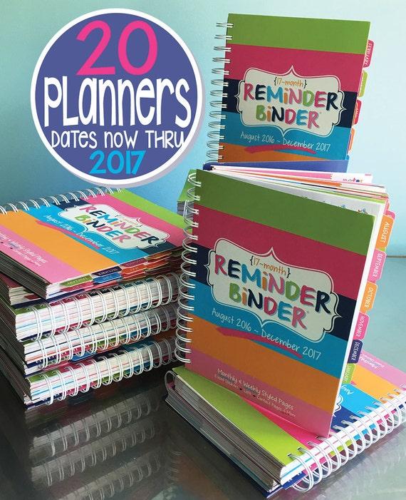 #HANDMADE Planners [Bulk 20] 2016-2017 Reminder Binder