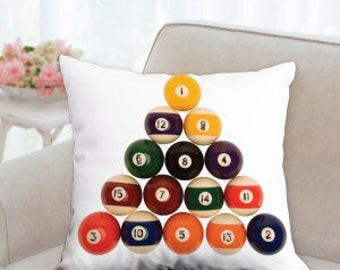 Pool Balls Pillow