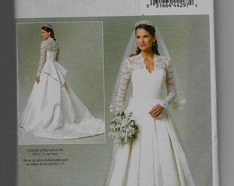 B5731 Butterick Wedding Dress Sewing Pattern Sizes 14-16-18-20 Does Not Make Veil