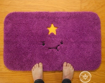 """Adventure Time """"Lumpy Space Princess (LSP)"""" Inspired  - Embroidered Bath Mat or Rug"""
