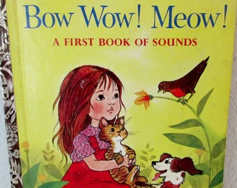 "Vintage Little Golden Book BOW WOW! MEOW! Copyright 1963 ""A"" 1st Edition! #523"