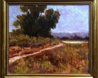 Narrow Trail - California landscape plein air 14x12 oil painting