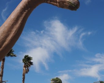"Cabazon Dinosaurs, California Photograph, Travel Photography, USA Wall Art 8"" x 10"""