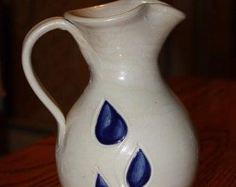 Salt Glazed Stoneware Vase/Pitcher made by  Williamsburg Pottery