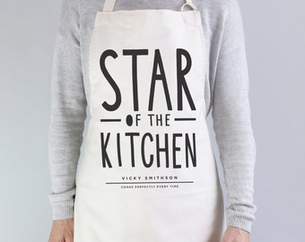 Star of The Kitchen Apron - personalised apron - star baker - baking gift - personalised baking apron - personalised kitchen gift