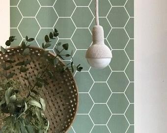 Lampe, ceiling pendant lamp in light grey