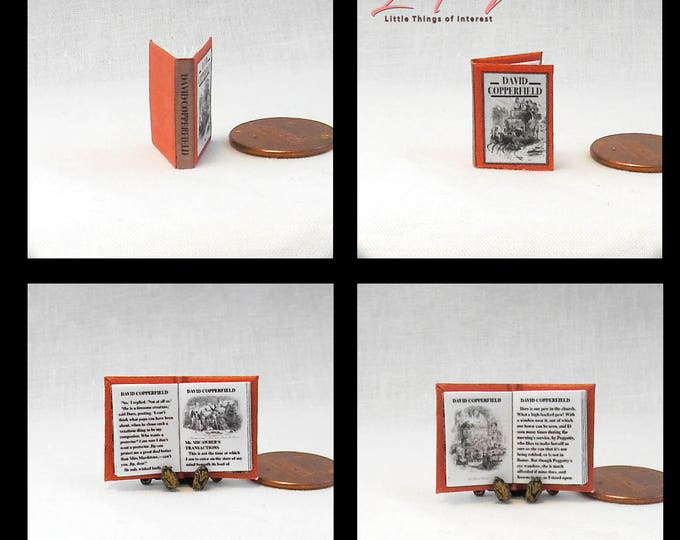 DAVID COPPERFIELD 12th Scale Openable Dollhouse Miniature Book Novel - Printable Download Charles Dickens Novel History England British