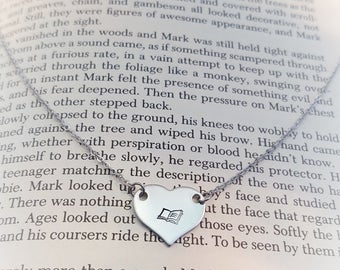 Book Lover's Heart Necklace