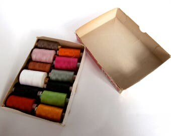 Sewing Thread - Vintage - Sewing Supplies - Assorted - Random - Mixed - Colours