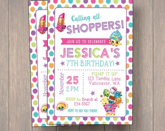 Shopkins Invitation | Digital or Printed | shopkins Invitation | shopkins | shopkins Birthday Invite