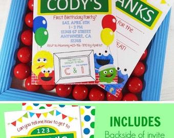 Sesame Street Birthday Invitation | Sesame Street Birthday Decorations | Printable Invitation | Elmo Party | Epic Parties by REVO
