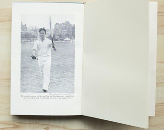 Cricket Upcycled Notebook - Playing for England Personalised Present - Handmade Sports Journal