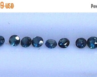 Sapphires Round 2mm Sapphire Loose Gemstone Lot QTY 12 0.78cttw Natural Blue Sapphire
