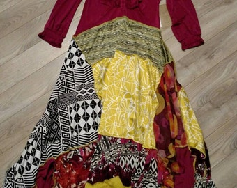 TATTERED REVIVAL Upcycled Dress S/M