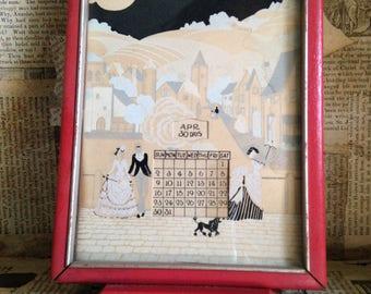 antique victorian perpetual calendarwomens vanity framed calendarladies desk calendarart decovintage decorcirca 1920scollectors item