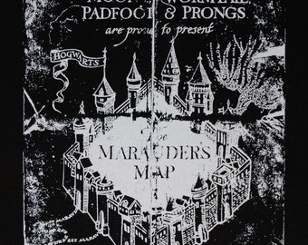 Marauders Map Backpatch harry potter inspired