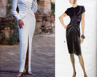 Vogue 1391 designer evening dress, Oscar de la Renta, Misses Size 14, 16, 18 - 1990s fashion