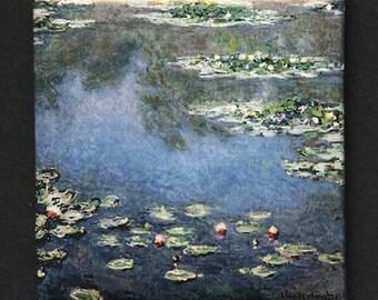 Claude Monet, Waterlillies, vintage art magnet