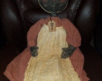 Primitive Hand Made Rosie Doll