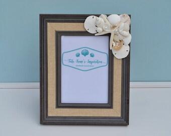 Beach Decor, Beach Wedding, Nautical Decor, Coastal Decor, Beach Wedding Gift, Beach Picture Frame, Seashell Frames, Nautical Picture Frame